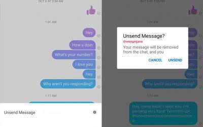 طريقة حذف رسائل فيس بوك ماسنجر و واتس اب بعد إرسالها للطرف الآخر